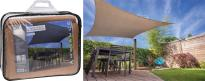 Квадратен сенник - 3х3м, цвят пясък
