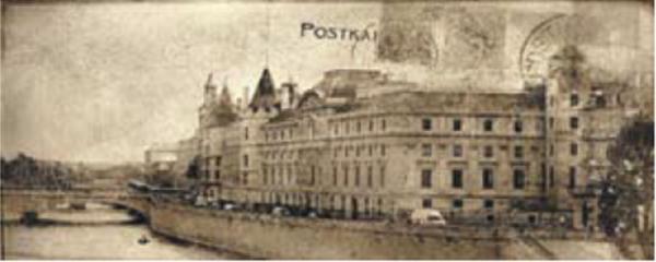 Декоративна фаянсова плочка Postcard beige inserto 2 20x50 см