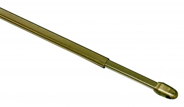 Корниз телескопичен 60 см месинг