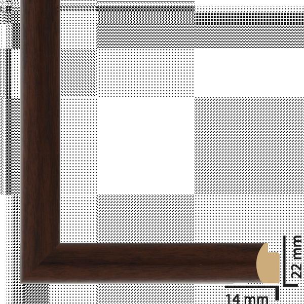 Рамка с паспарту ПВЦ 30х40 см кафяво
