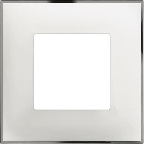 Рамка единична бяло/хром Bticino