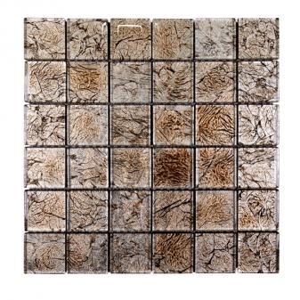 Стъклена мозайка кафяв
