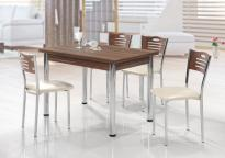 Комплект Поло Орех маса + 4 стола