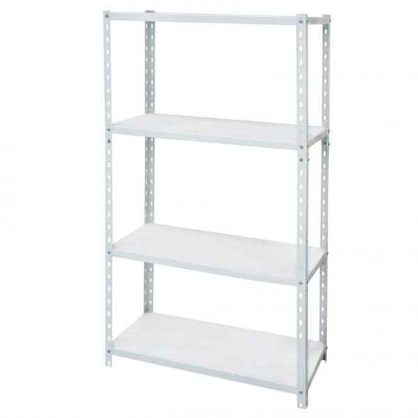 Стелаж метален бял 4x40 кг