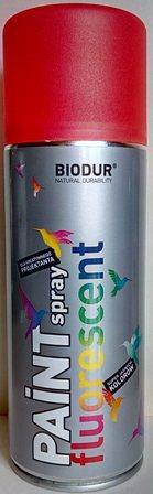 Спрей Biodur Флуоресцентен RAL 3026(червен), 400 мл