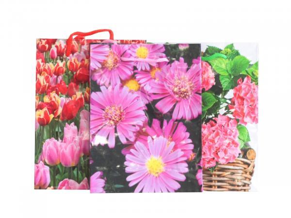 Плик за подаръци Цветя 12.5х17х55 см