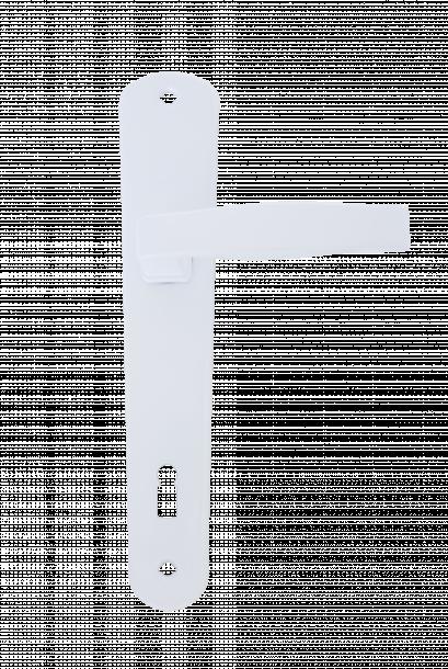 Дръжка Класико обикновена  90 бяла блистер
