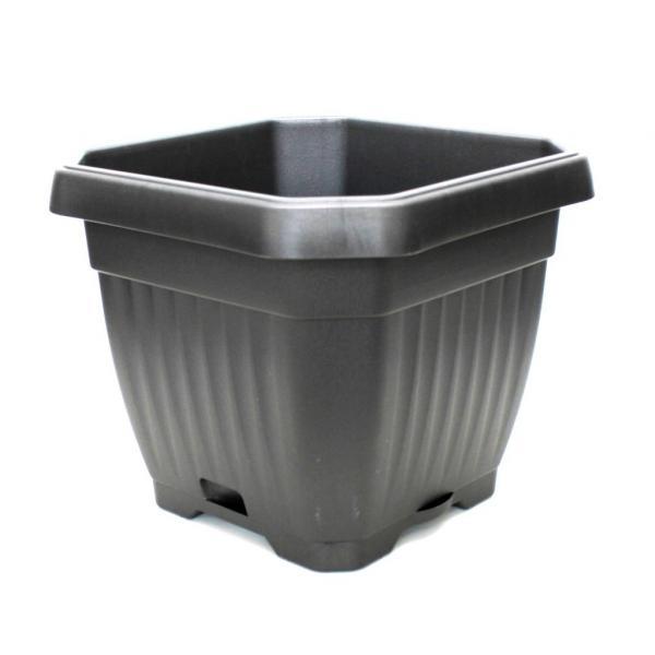 Осмоъгълна саксия Ребра,36/36 см, антрацит