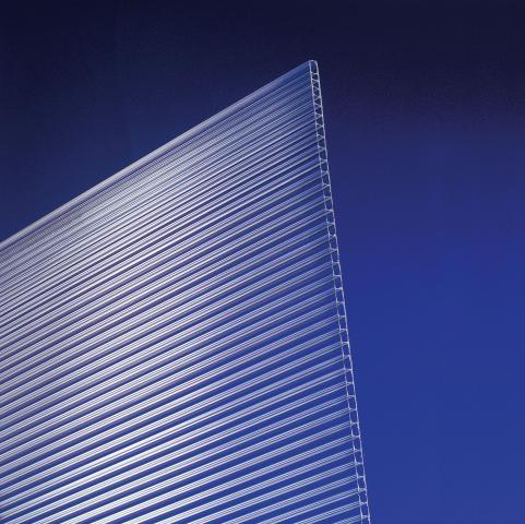 Поликарбонат плоскост 4 мм Прозр.1х1.05 м