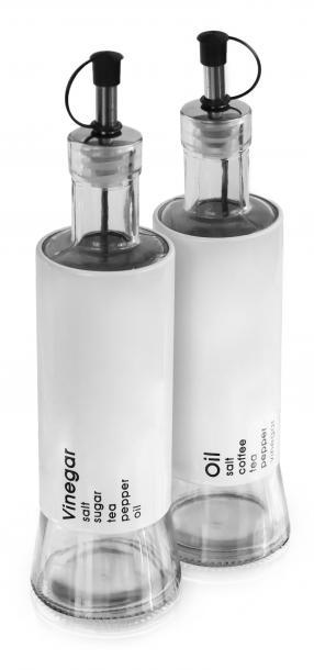 Бутилки за олио и оцет 320 ml 2-ка бели