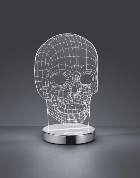 Настолна LED лампа SKULL 7W h21.5cm 400 LM 3000-6500K
