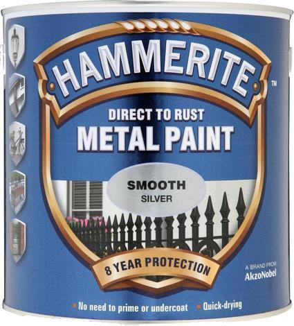 Боя за метал Hammerite 2.5л, сребро гланц