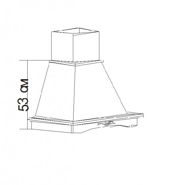 Талпи облицовка за аспиратор Класик 70х45х70.5