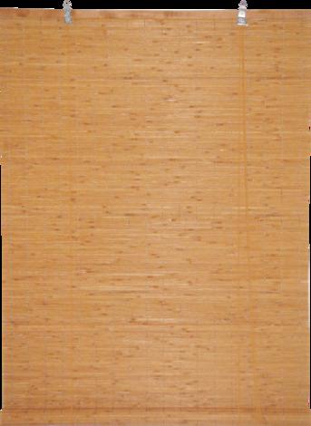 Бамбукови щори 120х180 см, цвят тера, широки ламели