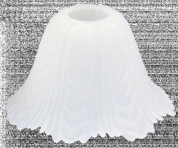 Полилейно стъкло Е27 бяло
