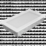 Решетка 17/30 см бяла със жалузи