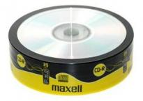 CDR80 25 pk Shrink 700 MB Maxell