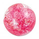 Топка с блясък, розова