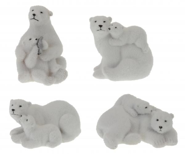 Фигурка 'Бяла мечка с мече'