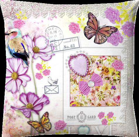 Възглавница Digital, декор пощенска картичка