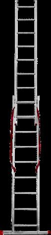 Алуминиева стълба 2х9
