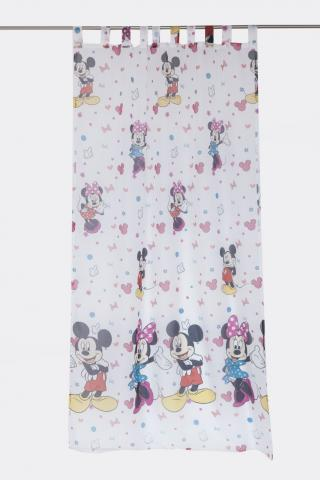 Перде Minnie Mickey 140*245cm, бяло