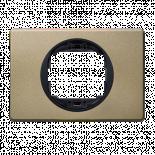 Рамка единична никел крейц 80х120 EON