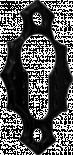 Отвор за ключ М13-60X34X3,5 черен
