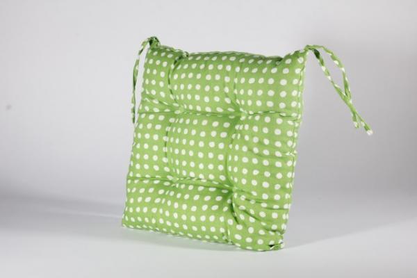 Столовка с връзки Пунто Бианко, 40х40 см, зелено