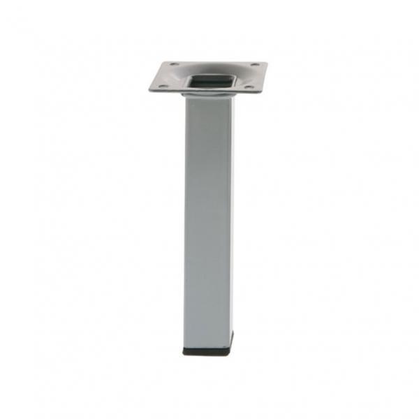 Метален крак 25x25x200 мм сребърен