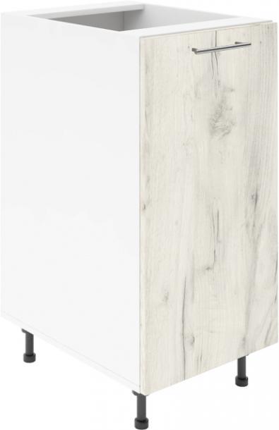 Крафт D1 долен шкаф с една врата 55см, дъб крафт бял