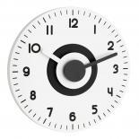 """Стенен часовник """"Polo"""" черно-бял"""