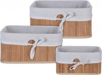 Сет бамбукови кошници 3 бр.