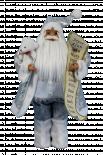 Фигура Дядо Коледа 46см, сив със списък