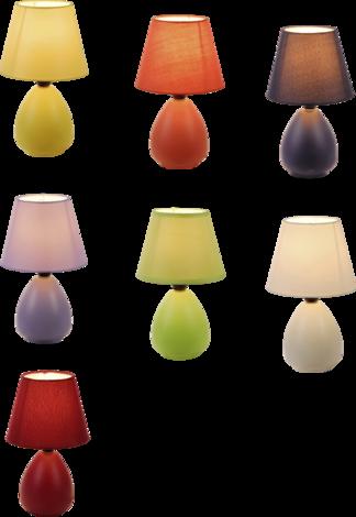 Настолна керамич. лампа 7цвята