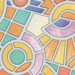 Самозалепващо фолио 67,5см x 2м -Витраж геометрия