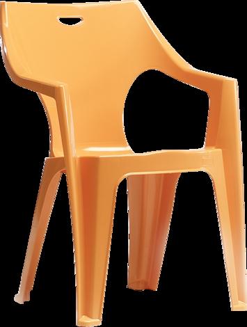 Стол Крета оранжев