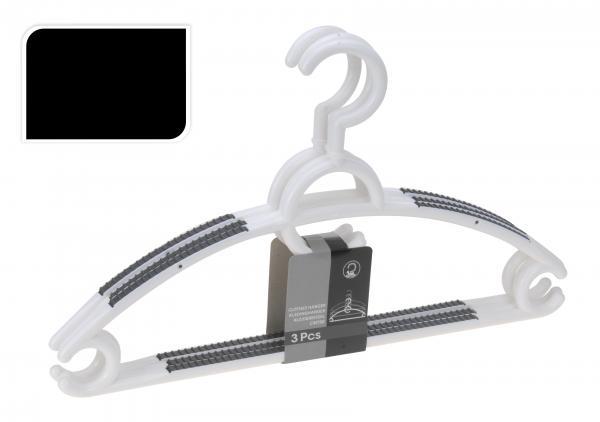 Закачалки за дрехи бели 3 бр