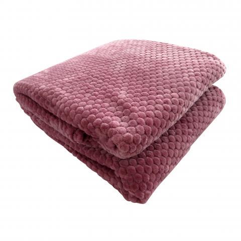 Жакардово одеяло корал 200x220 см 3