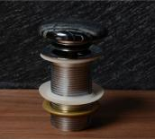 Клик сифон за умивалник камък сив