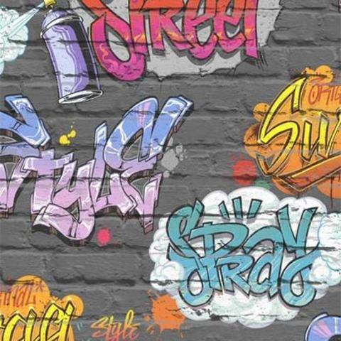 Тапет FreeStyle  т.сив графити