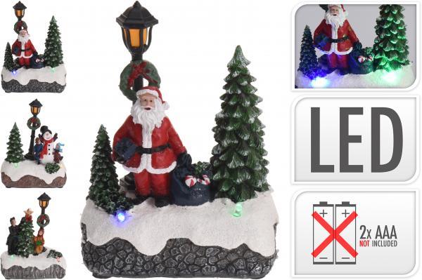 Фигурка Дядо Коледа фенер с LEDсветлина