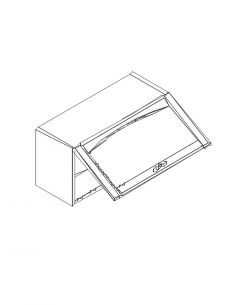 Талпи горен шкаф с една клапваща стъклена врата 80х29х35.7
