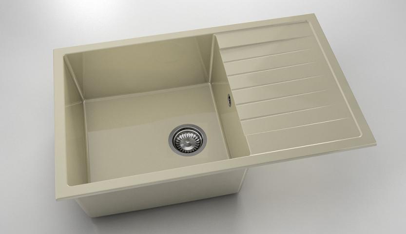 Кухненска мивка с плот Полимермрамор FAT/2280300/ 80x49