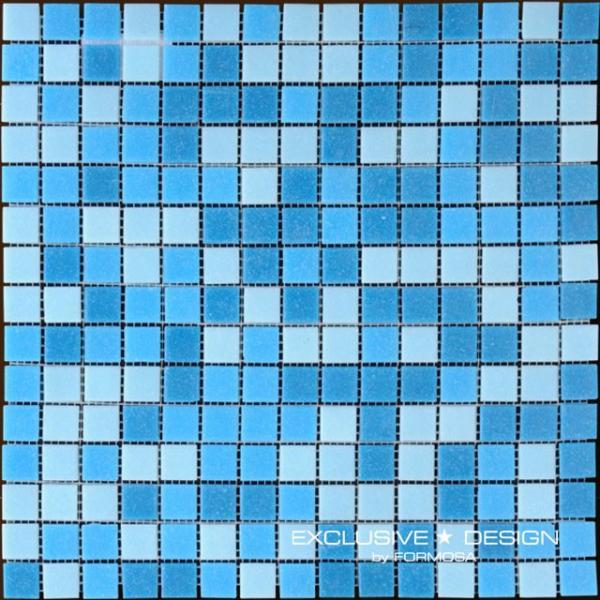 Стъкл. Мозайка/басейн син