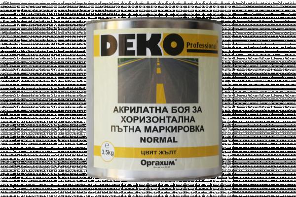 Deko Professional пътна маркировка 3.5кг, жълта