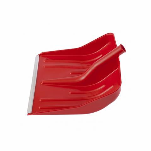 Лопата за сняг без дръжка с алуминиев кант 400 х 420 (червена)