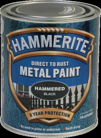 Боя за метал Hammerite 0.75л, черен хамър ефект