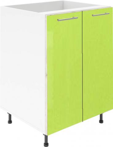 Крафт D6 долен шкаф с две врати (за мивка) 100см, зелен гланц