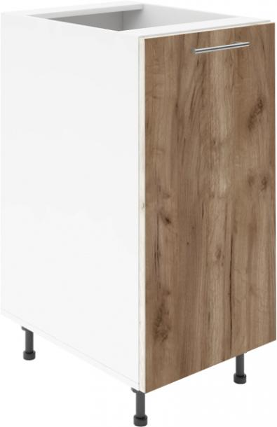 Крафт D1 долен шкаф с една врата 35см, табако крафт